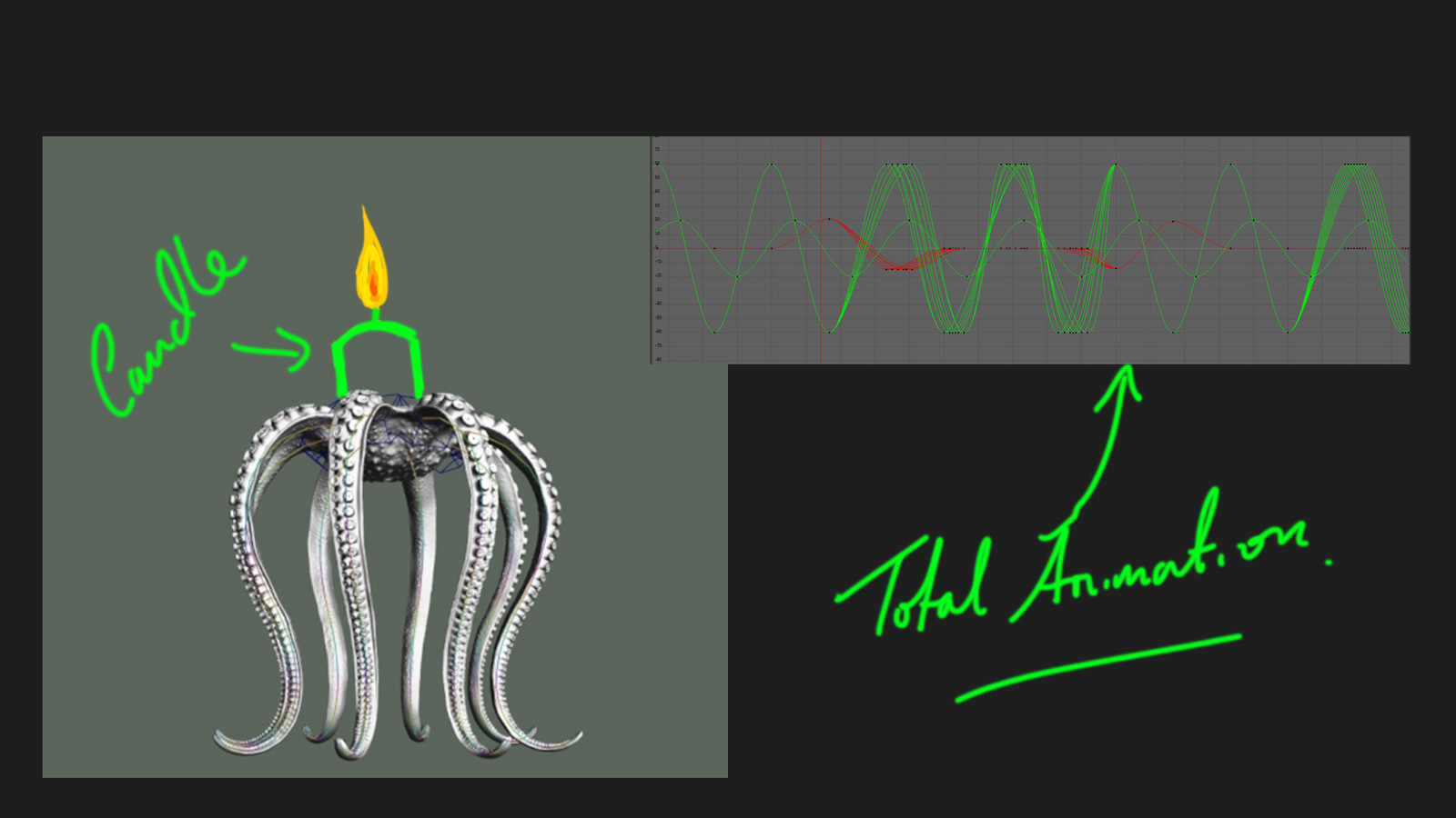 How I was going to 3d print it. And my total animation curves.
