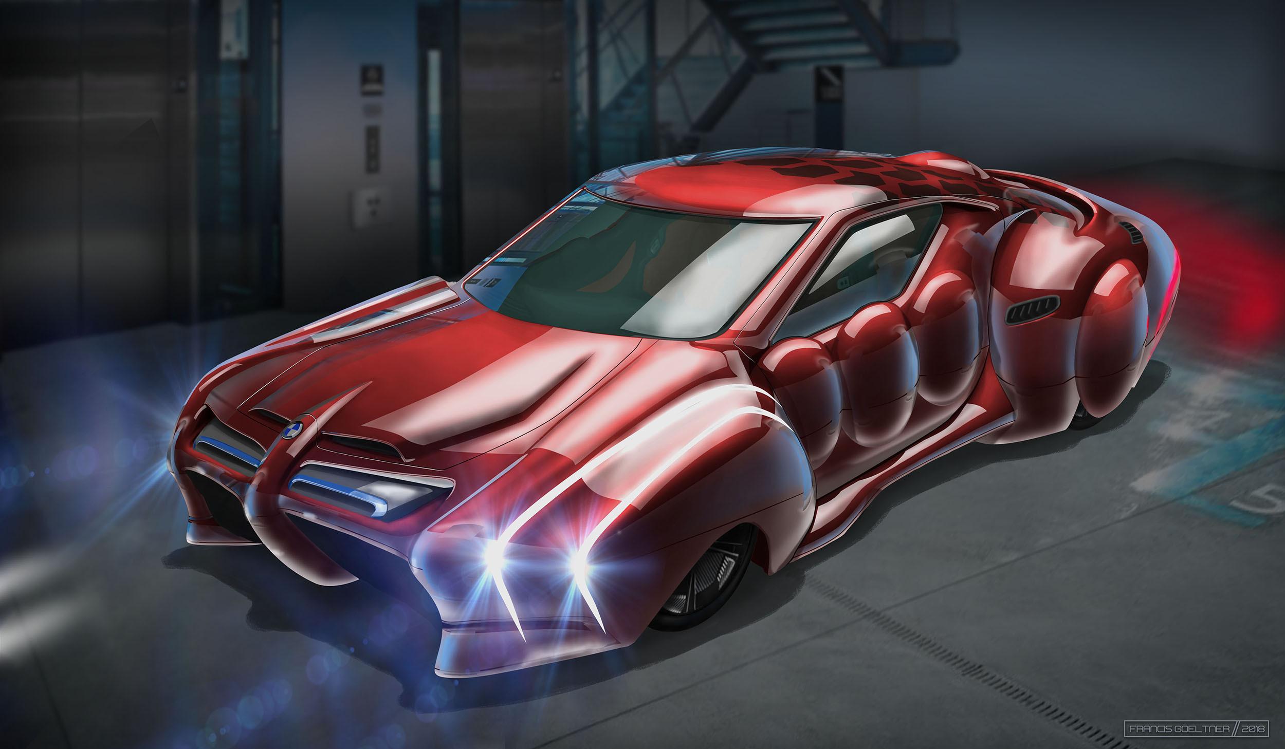 Market Forces - BMW Omega Series - Front - Dark Red