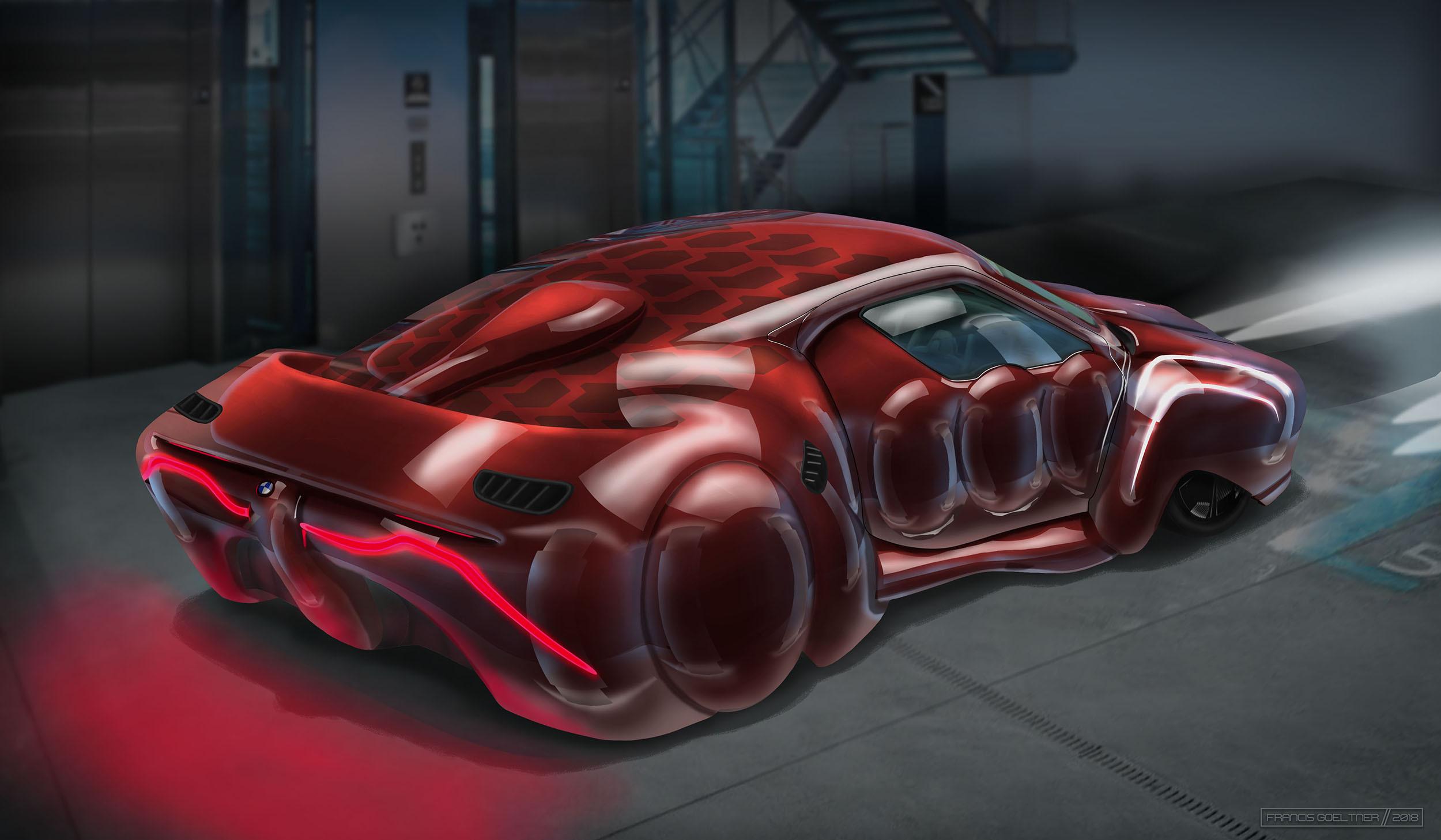 Market Forces - BMW Omega Series - Back - Dark Red