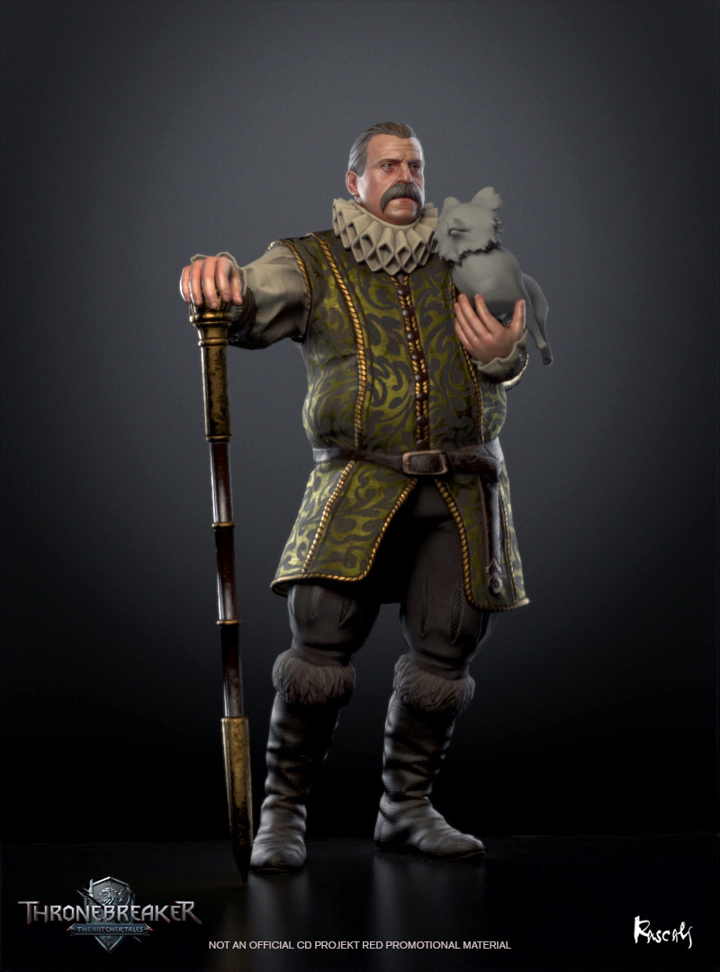 At the beginning of the Second Northern War, while Queen Meve was attending a meeting with the other monarchs of the Northern Kingdoms at Hagge, Count Caldwell was tasked with helping Villem, Meve's eldest son, to run the kingdom of Lyria and Rivia.