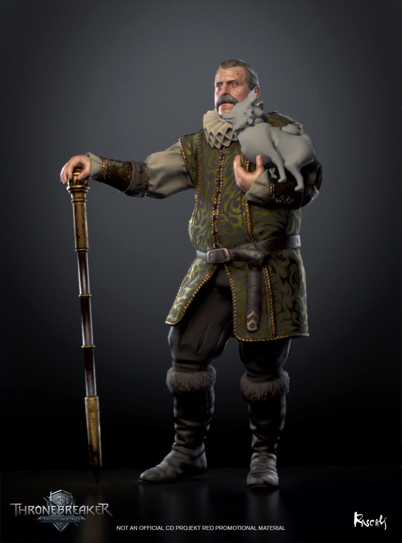 Caldwell appears in the game as an avatar in a battle. He actually occupies little screen space and thus his budget is only about 8K polygons. We compensate for this fact with PBR materials and carefully distributed shapes. How do you like him?