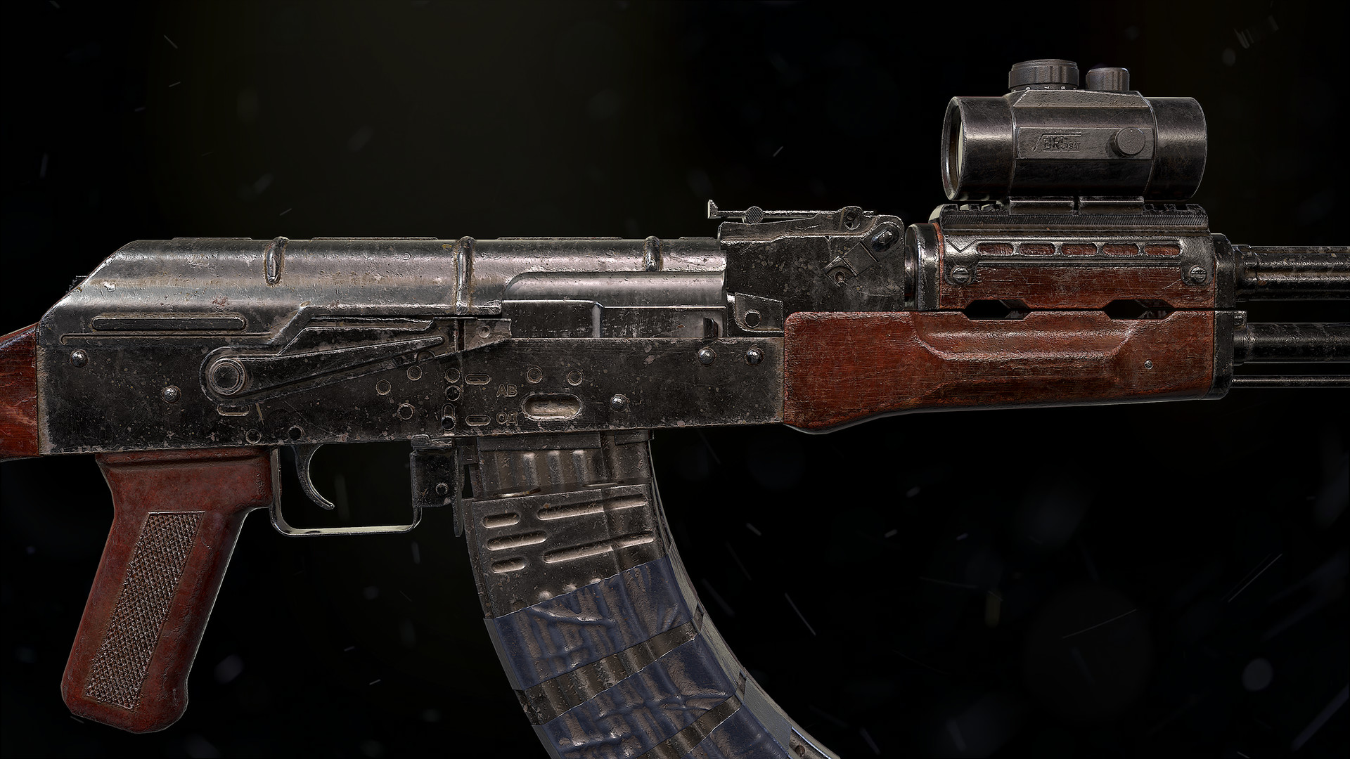 Artstation Akm Old Worn And Modified Oleg Valkov