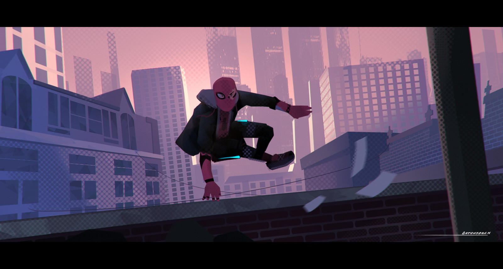 Into the Spider-Verse  (Keyframe and Character fan art)