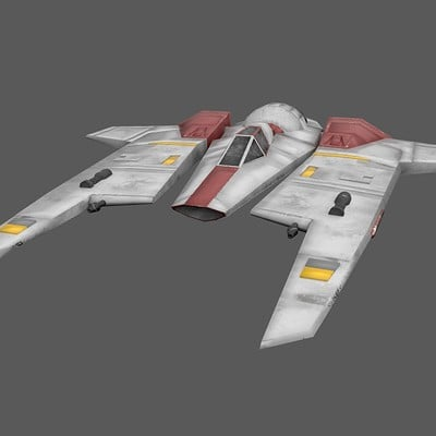 Andrew wilkins mandalorian and rebel alliance fang class fighter 3