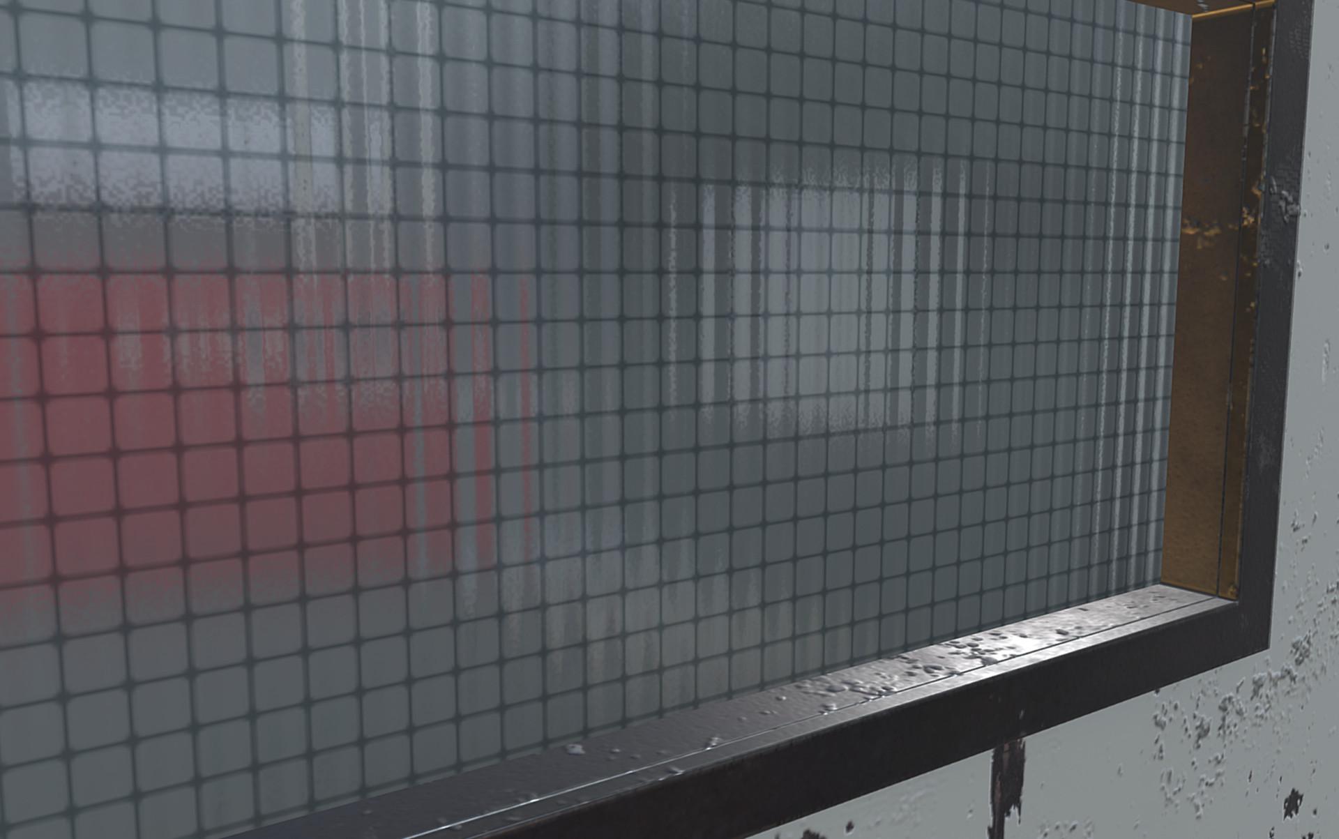 Jail Cell Asset Pack - reinforced glass material detail