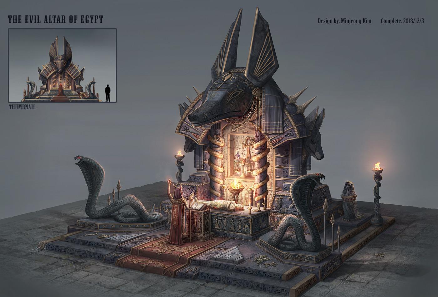 ArtStation - The evil altar of egypt, Minjeong Kim
