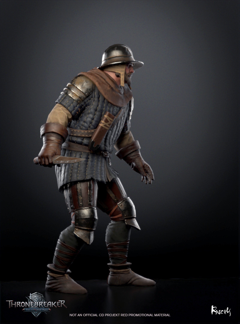 Just like all the other characters, the Bandit has been created with the client's exact guidelines in mind. Each model follows specific rules for  distribution of soft and hard edges as well as other requirements helping to achieve the perfect Low Poly.