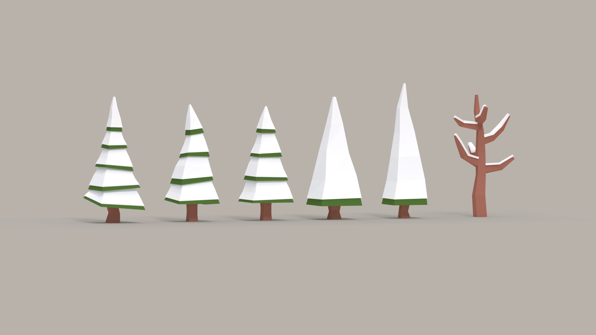Peter Tóth - Low Poly Snowy Trees - Free Asset Pack