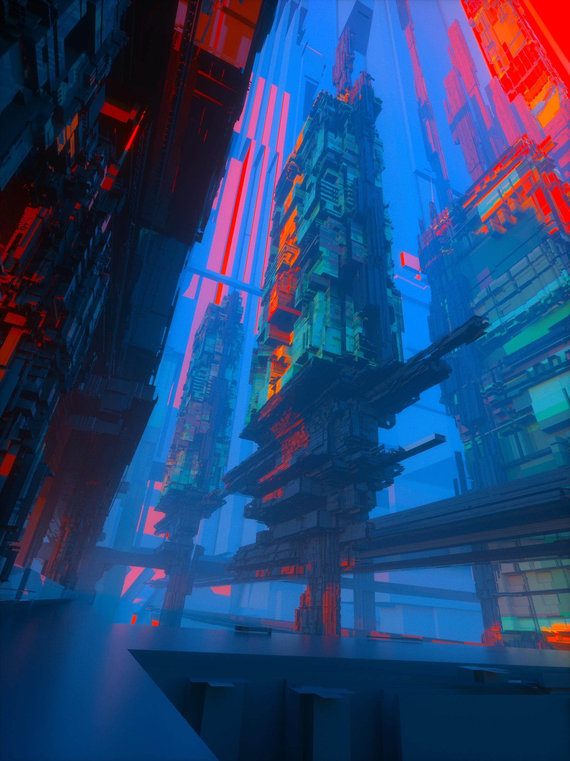 Leon tukker city colorful00013d