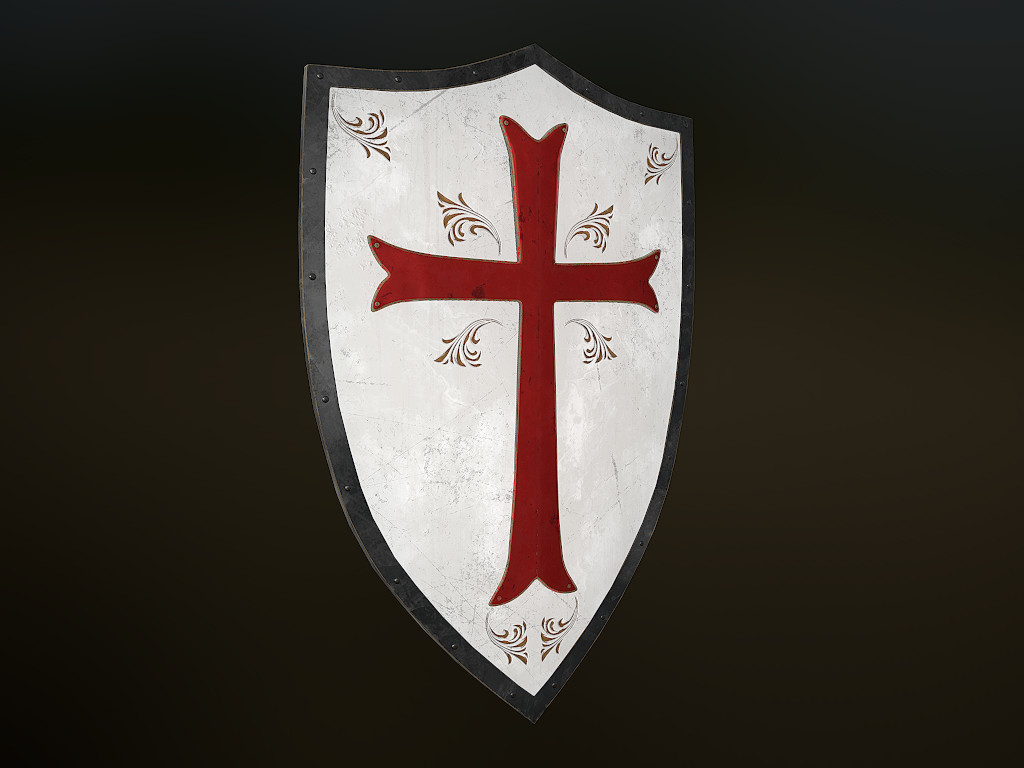 Medieval Crusader Stylized Shield