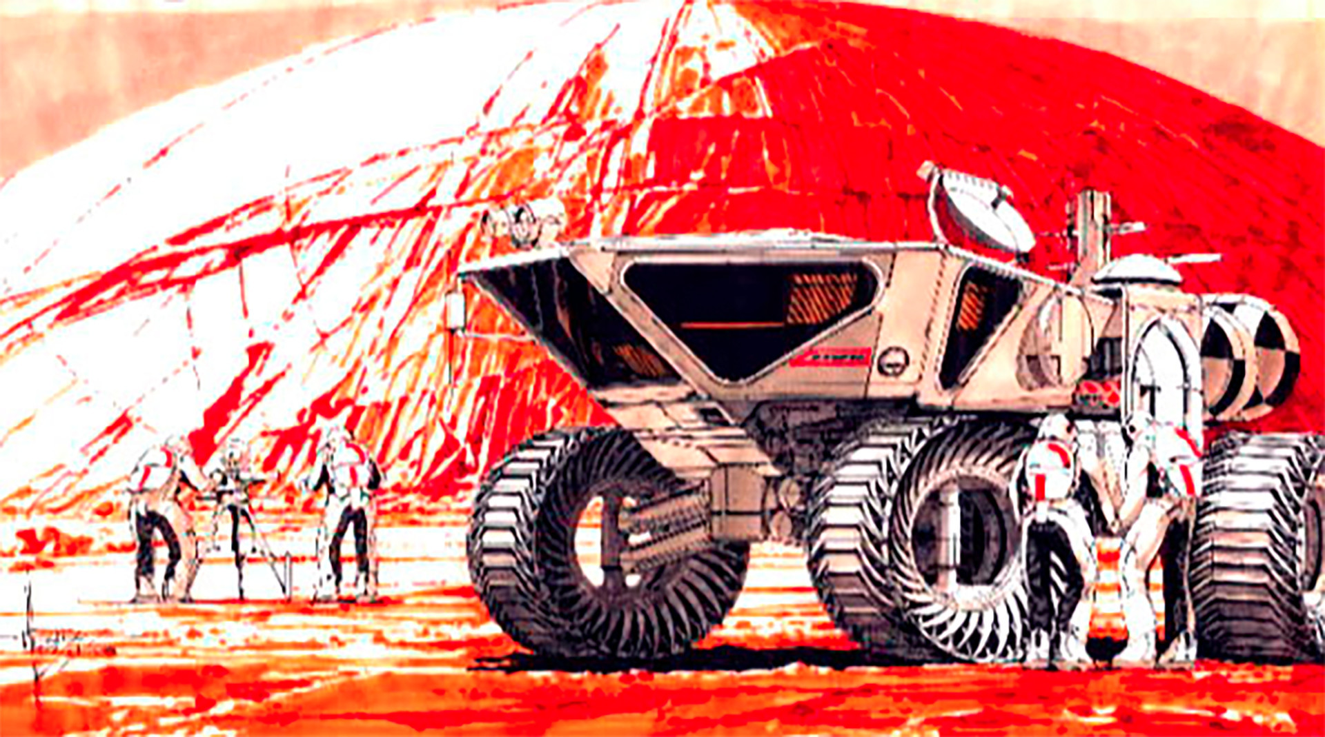 Original Syd Mead VEX concept for Nasa
