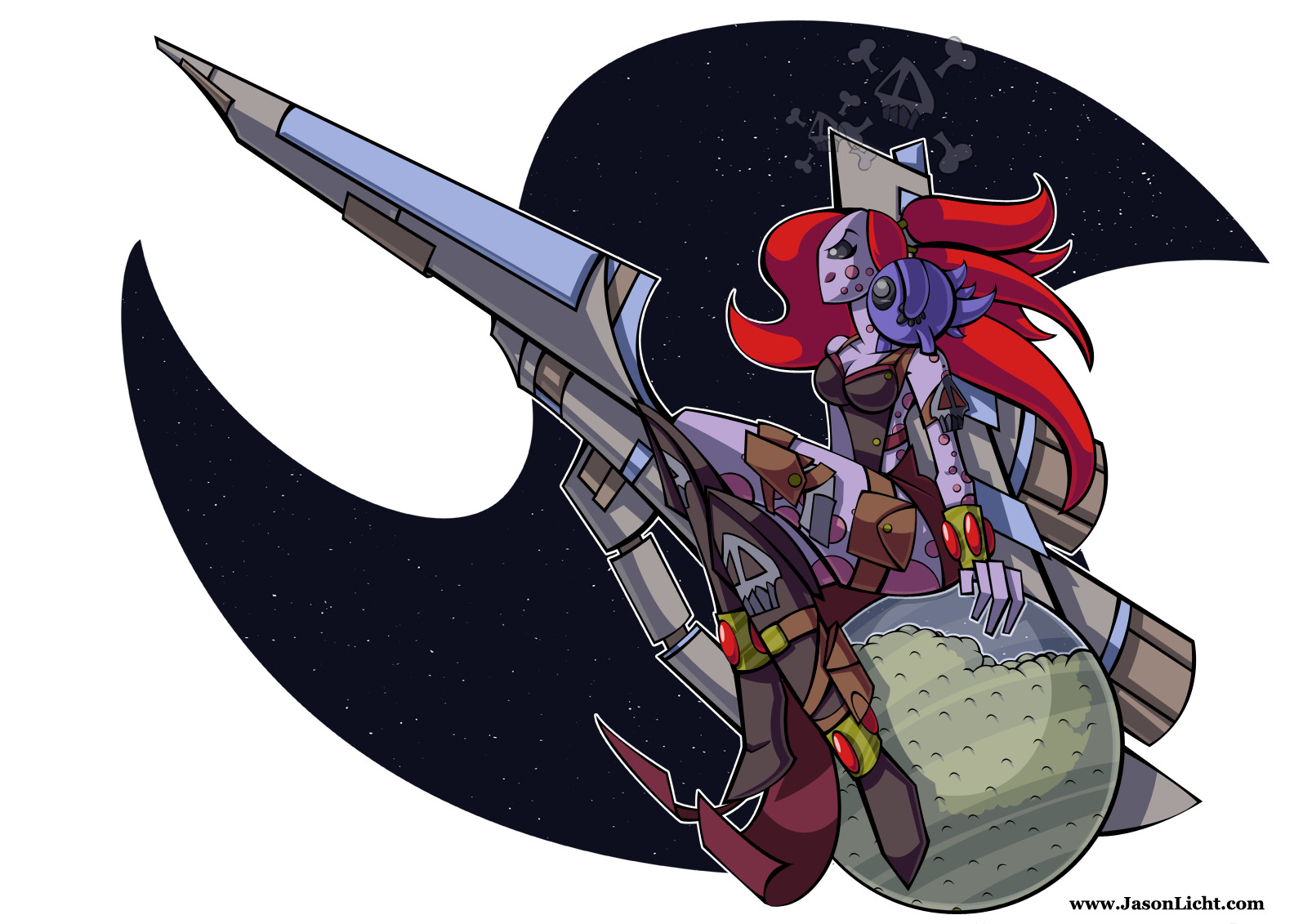 Space Pirate for a Character Design Challenge