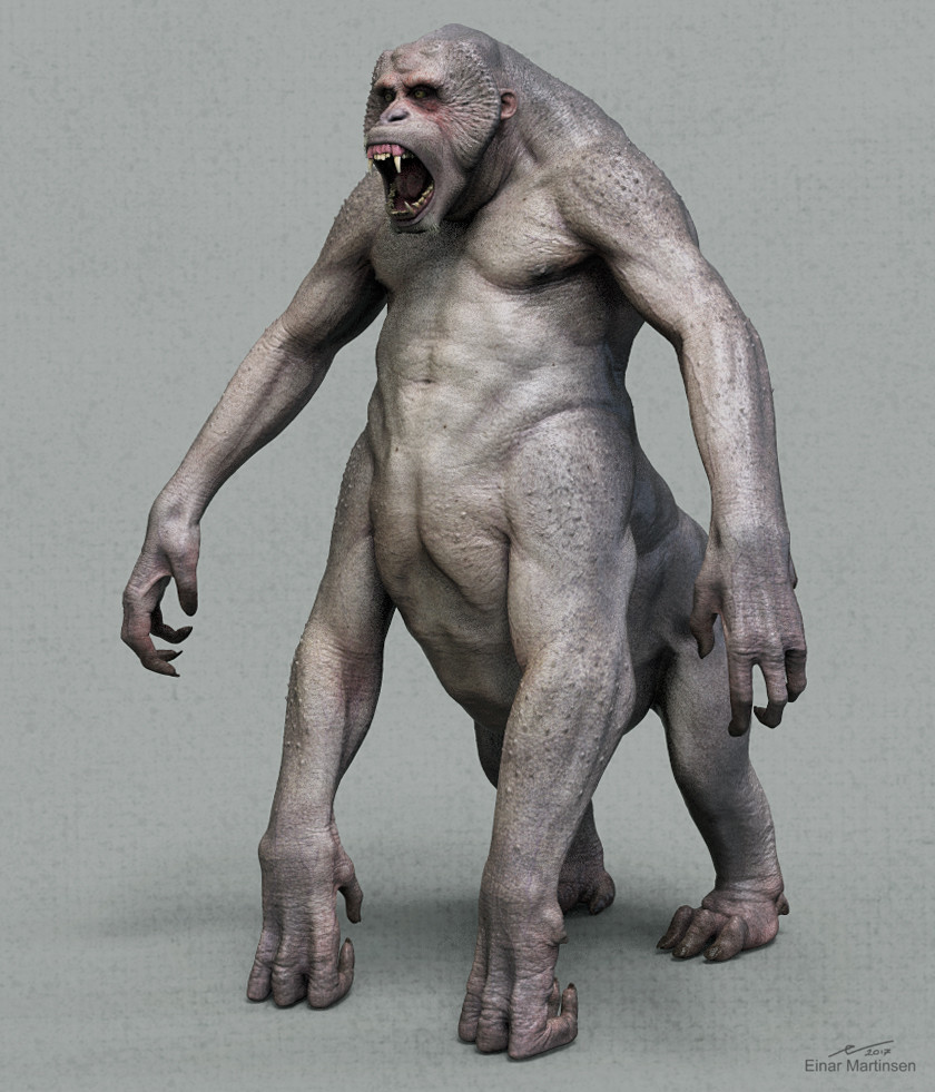 primate warrior - 3d renders