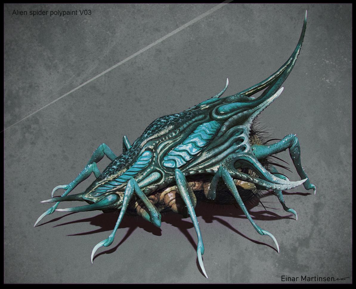 Einar martinsen week 04 alien spider polypaint v032