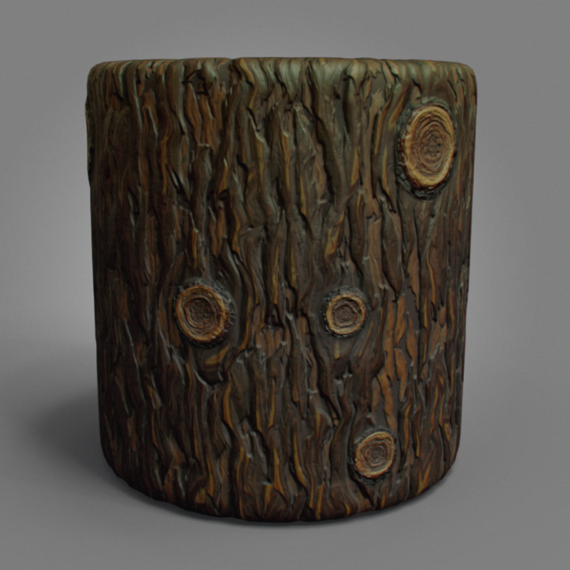 Maurizio barabani stylized bark render