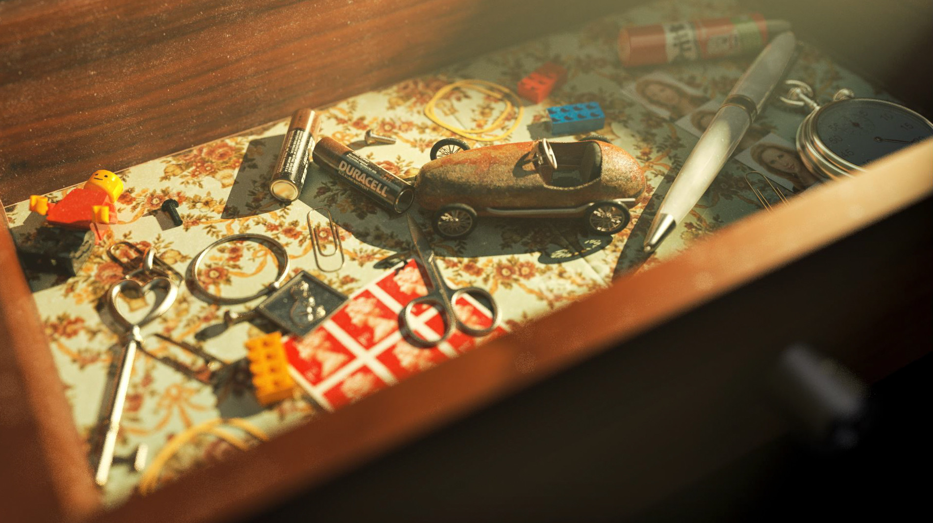 """MEMORY LANE"" OLD MISCELLANEOUS DRAWER / REDSHIFT - CINEMA 4D"