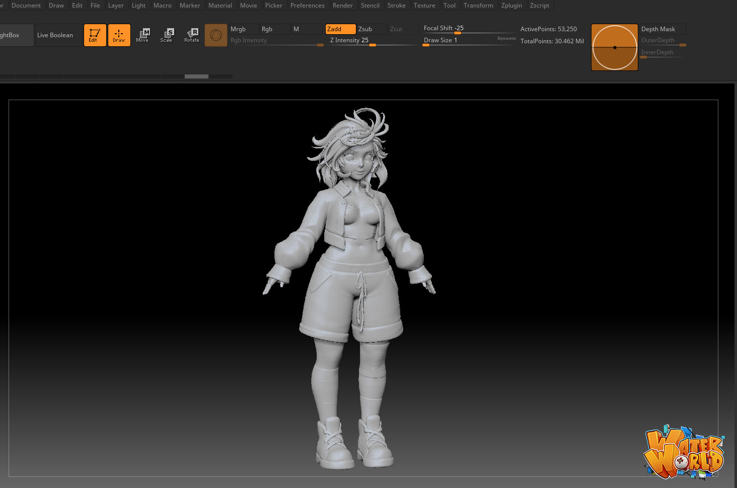 Thunder cloud mee hipoly casualoutfit wip