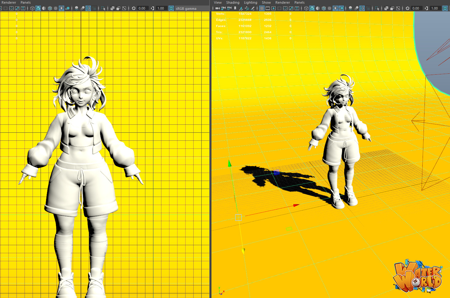 Thunder cloud mee hipoly casualoutfit wip 02