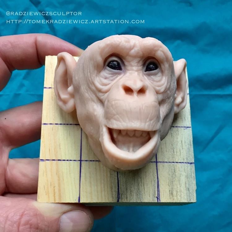 Chimpanzee/super sculpy/ 2,5 inches