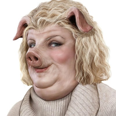 Christopher goodman pig lady no shadow 2