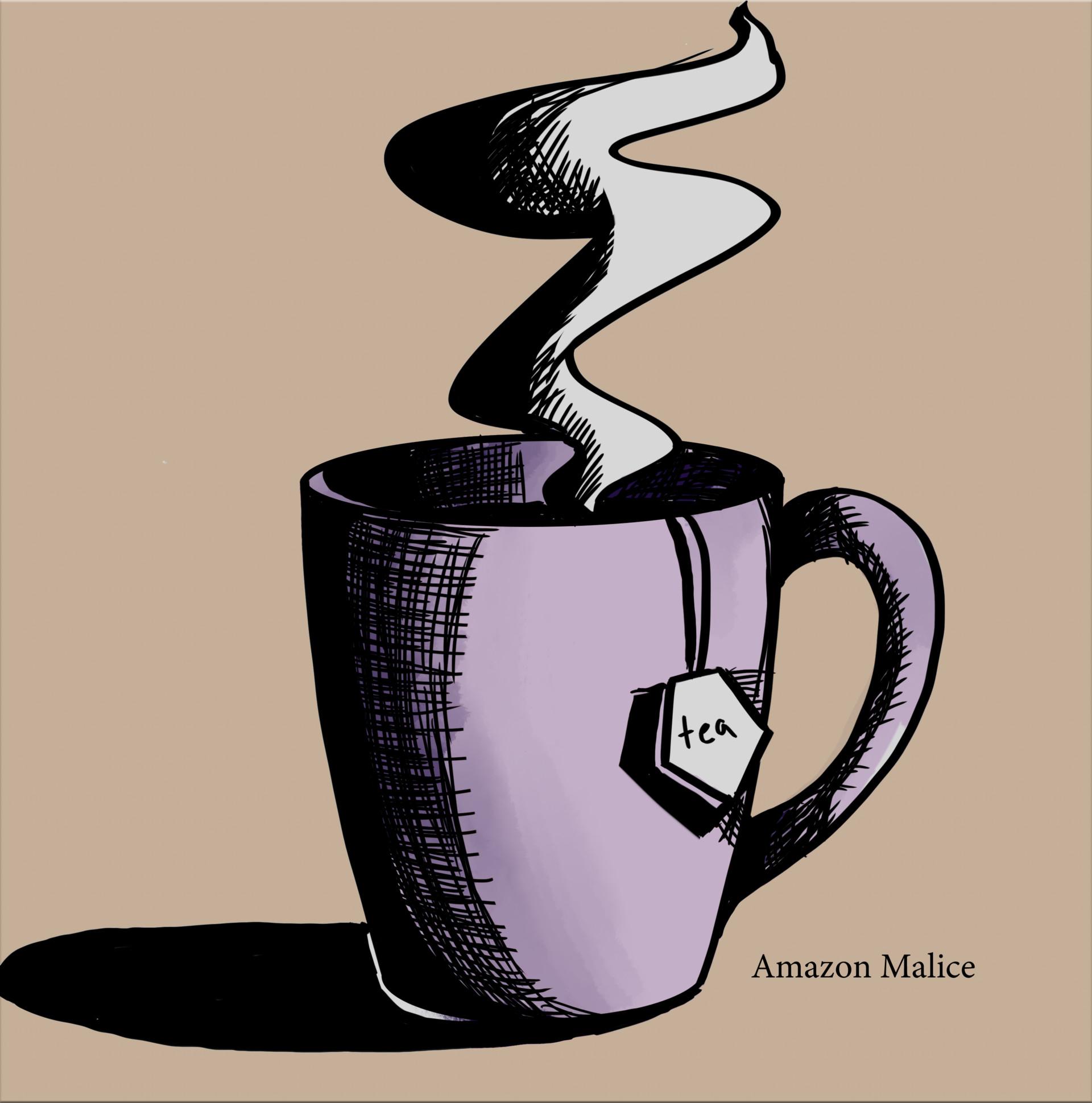 Artstation Daily Drawing A Nice Hot Cup Of Tea Kathleen Macintyre