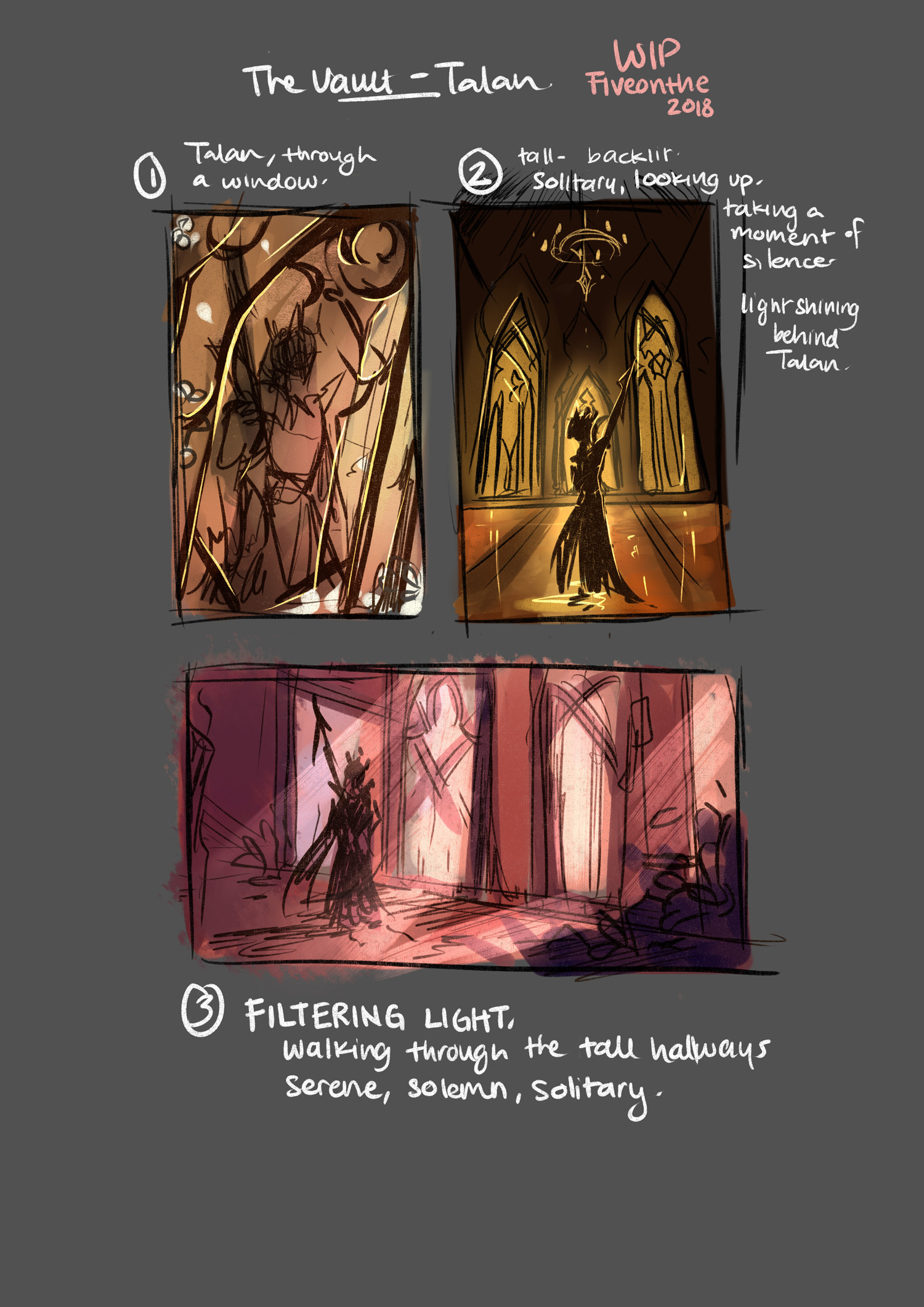 Joelin tan talan vault sketches