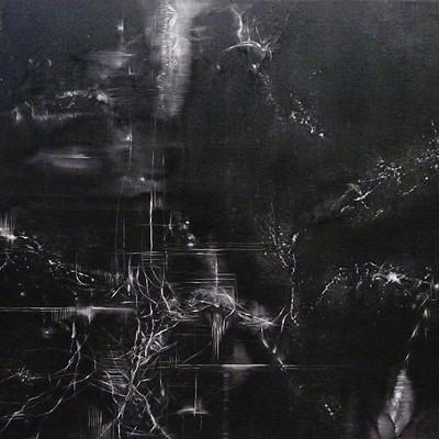 Martina gulan braining 195 x 93 oil on canvas