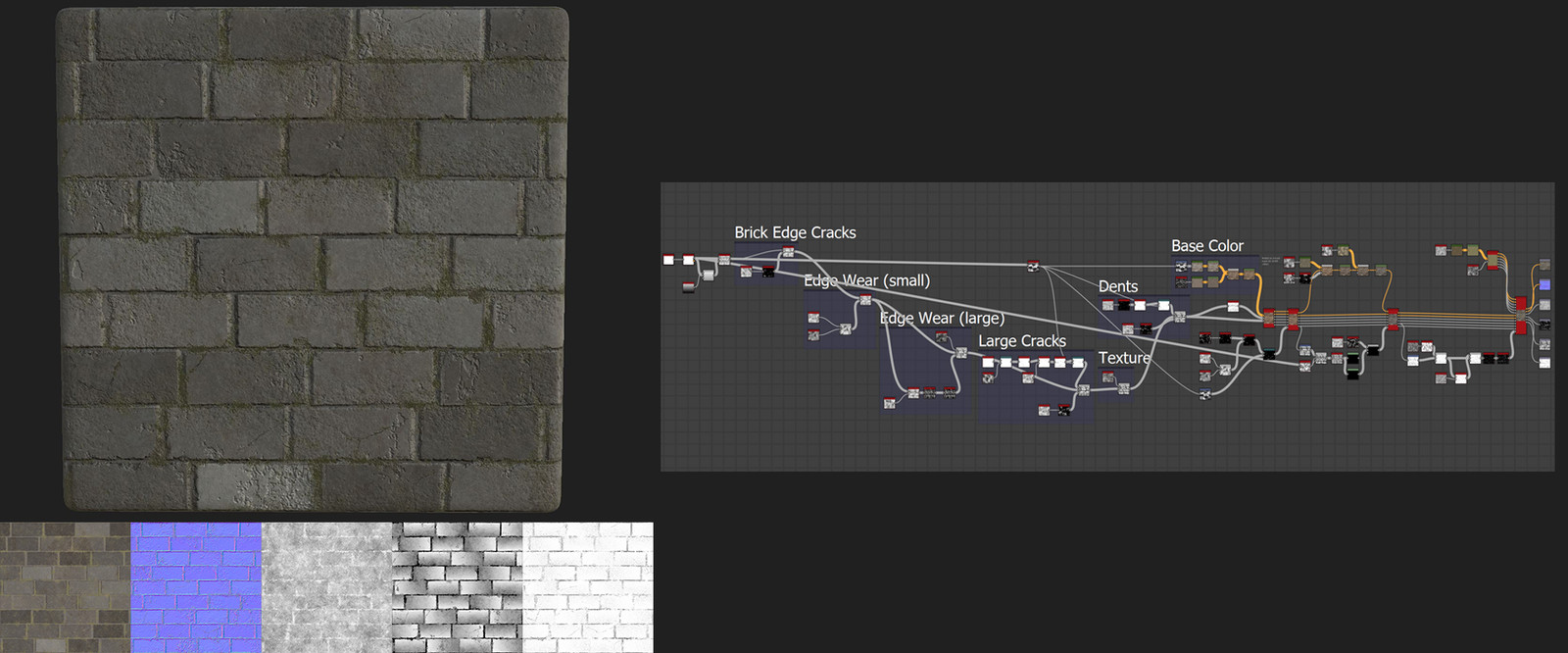 Brick Wall - Substance Designer Texture