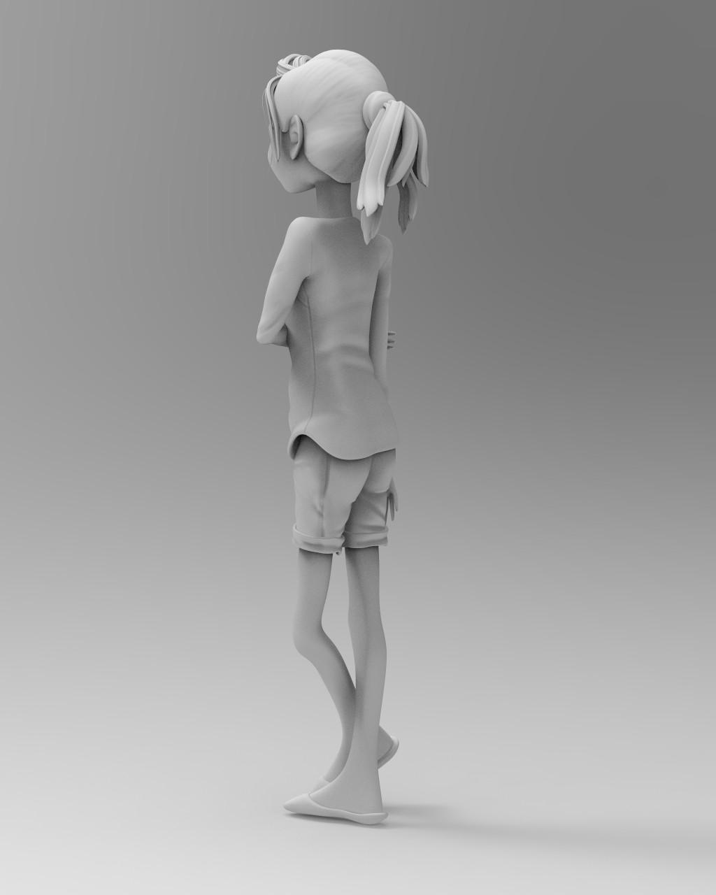 Keyshot Matte Grey render #3