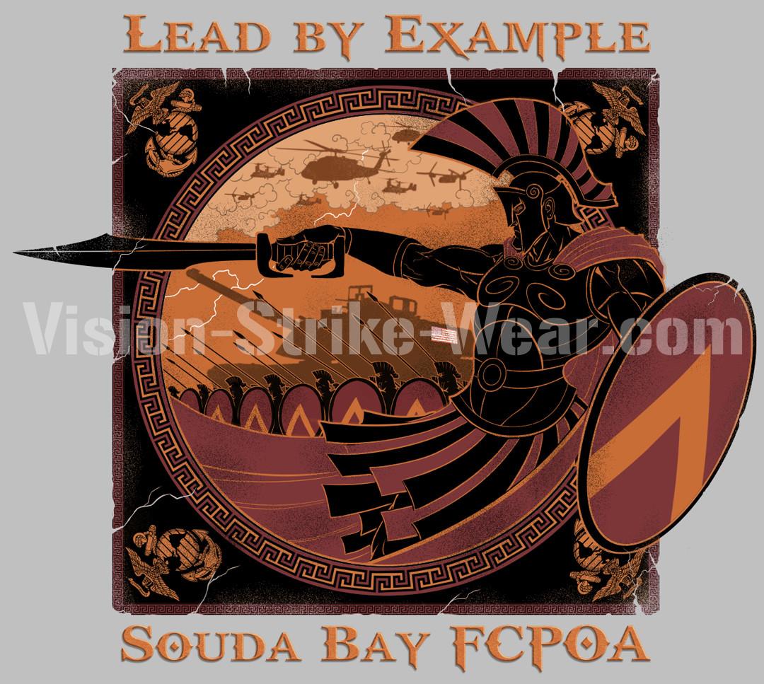 Navy Souda Bay - Spartan Greek vase-style design