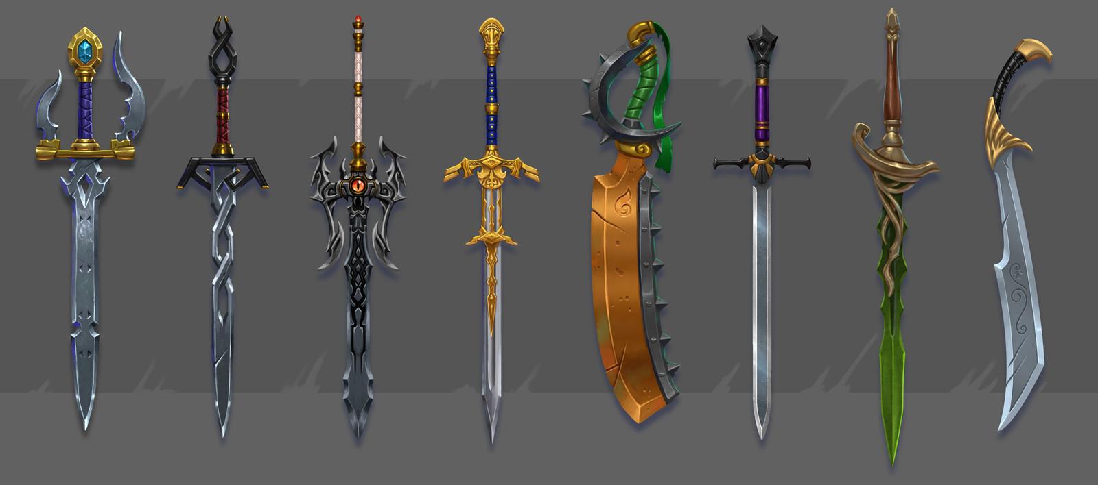 Sheet of swords