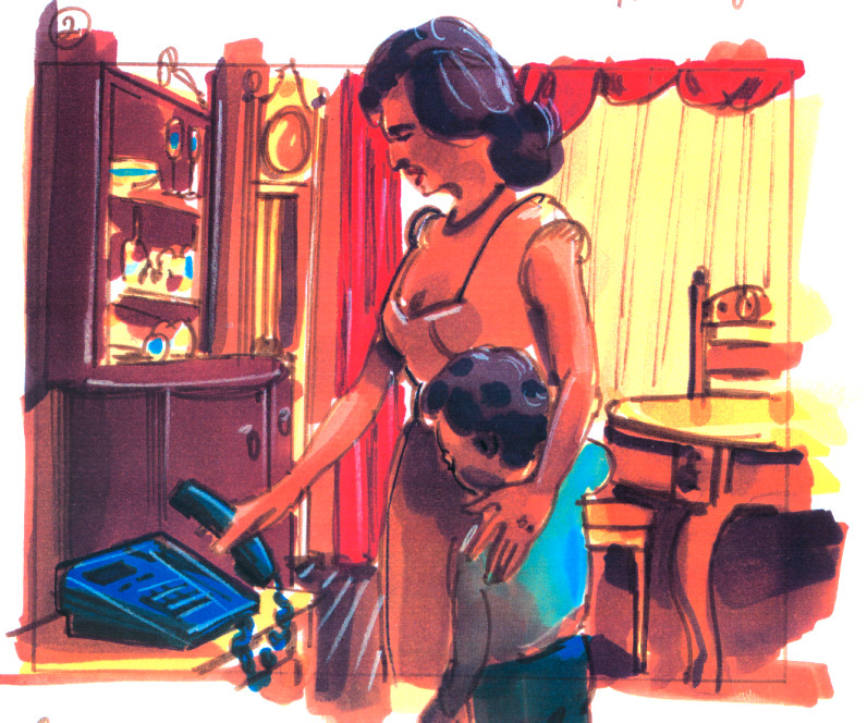 AT&T Storyboard, mom and son