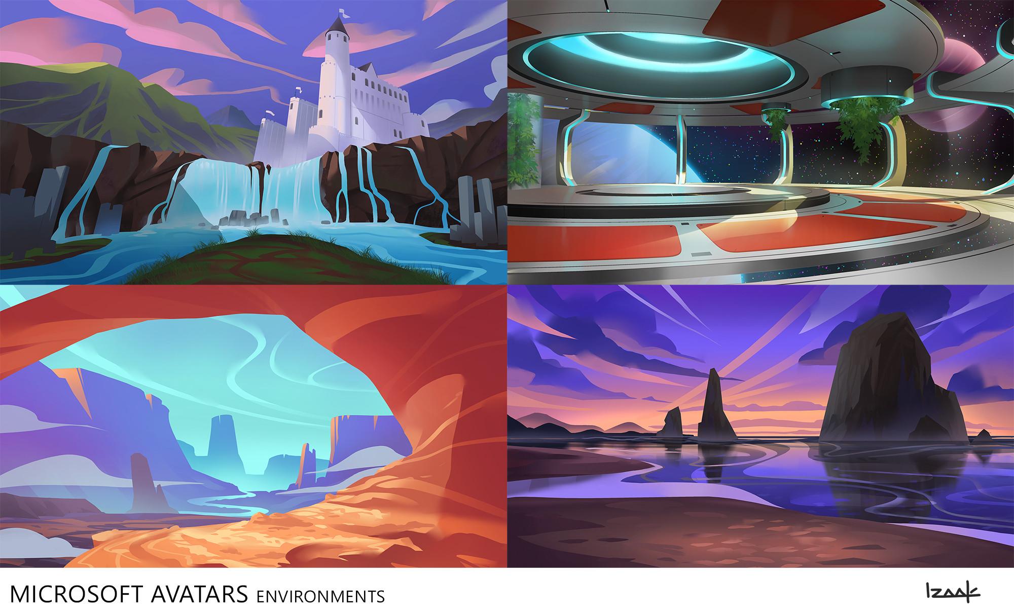 Xbox Avatars backgrounds.