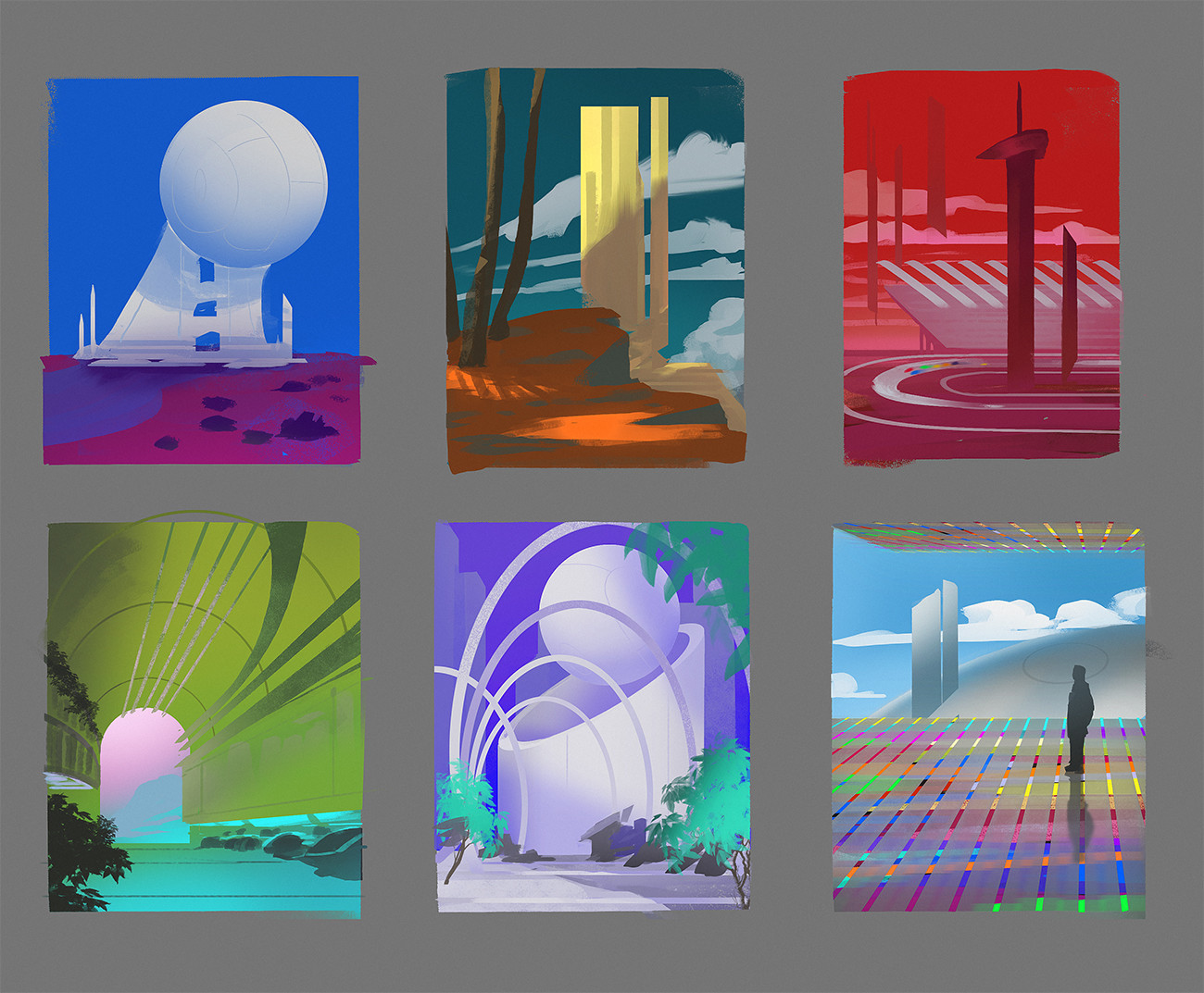 Thumbnails for project Canterbury scifi themed level.