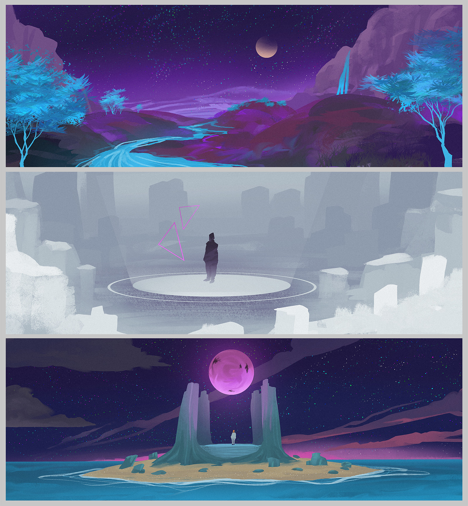 Thumbnails for project Canterbury fantasy themed level.