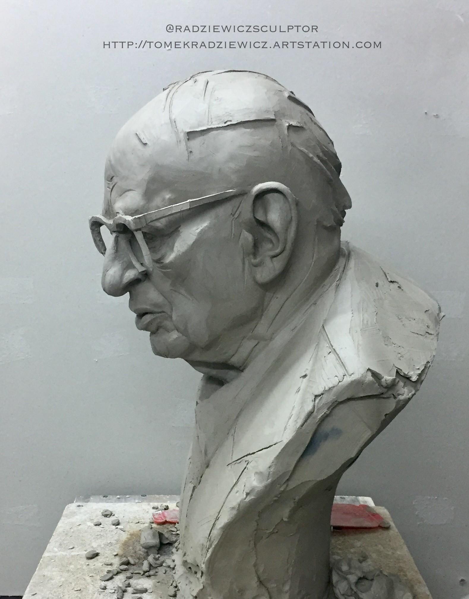 Władysław Bartoszewski / clay sculpture/scale 1:1