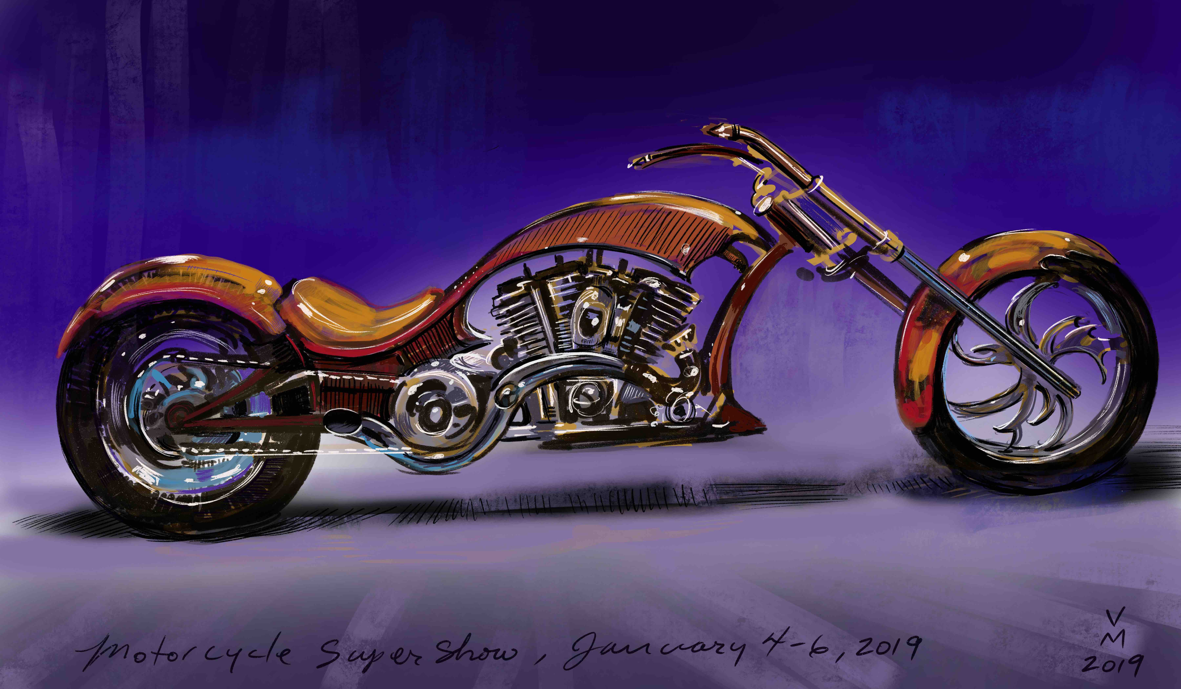 Vehicle design for Motorcycle Super Show