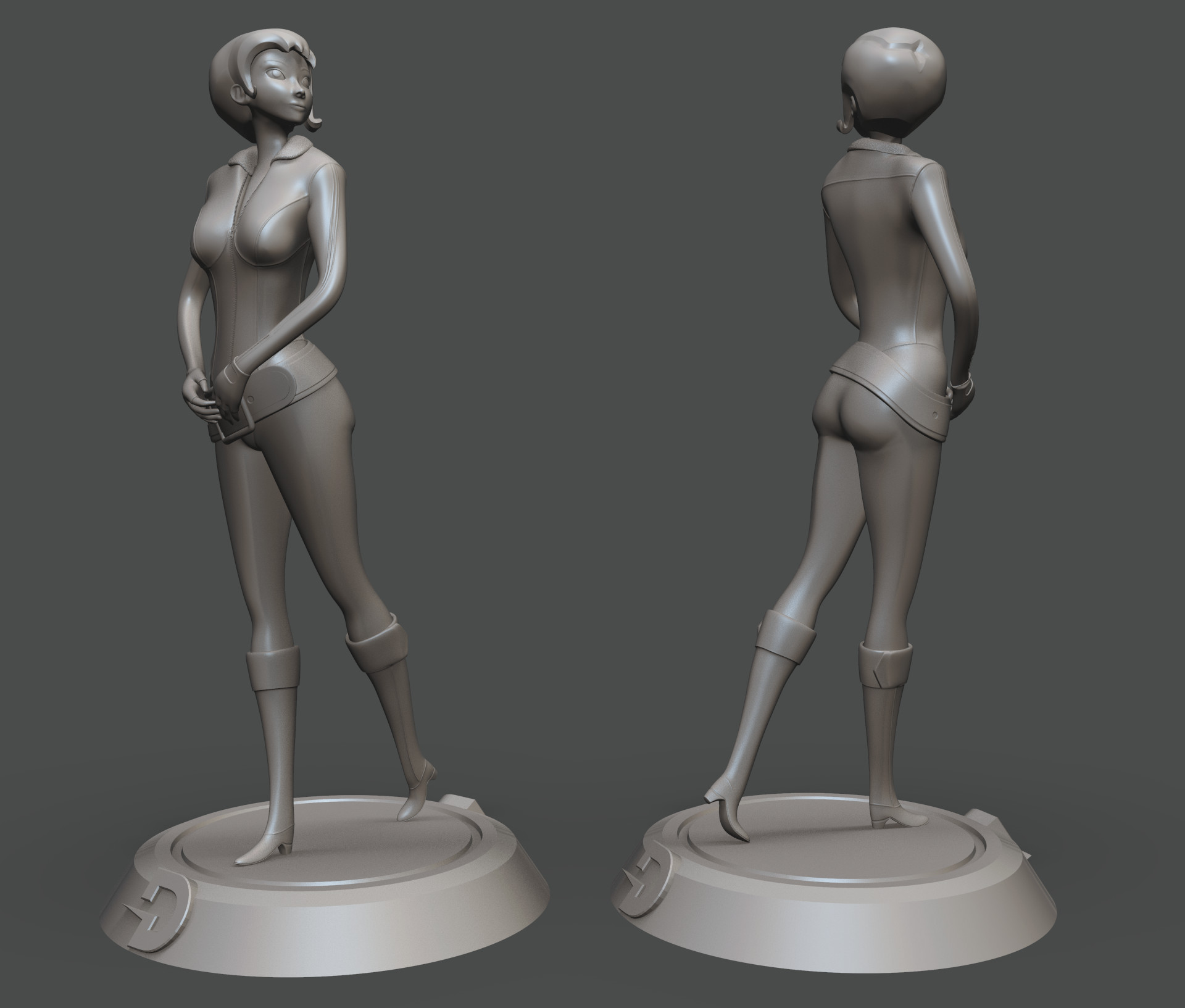 ZBrush sculpt based on the original in game model of Joanna