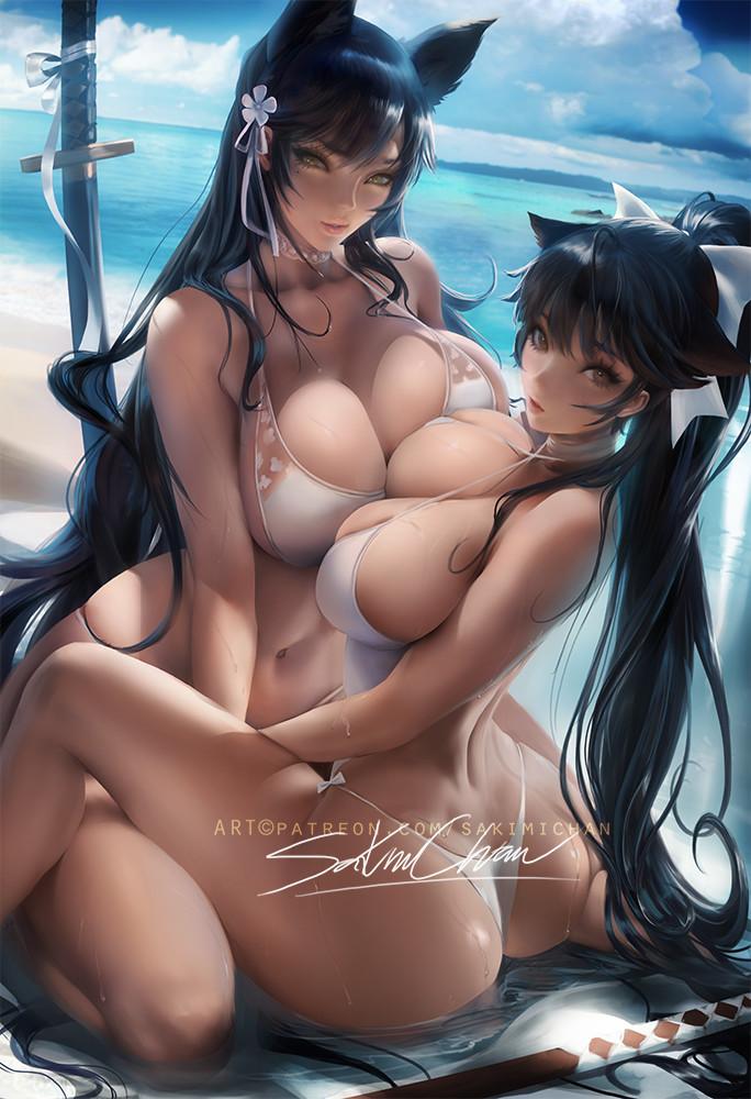 Sakimi chan atagoxtakao yuri azurlane 02