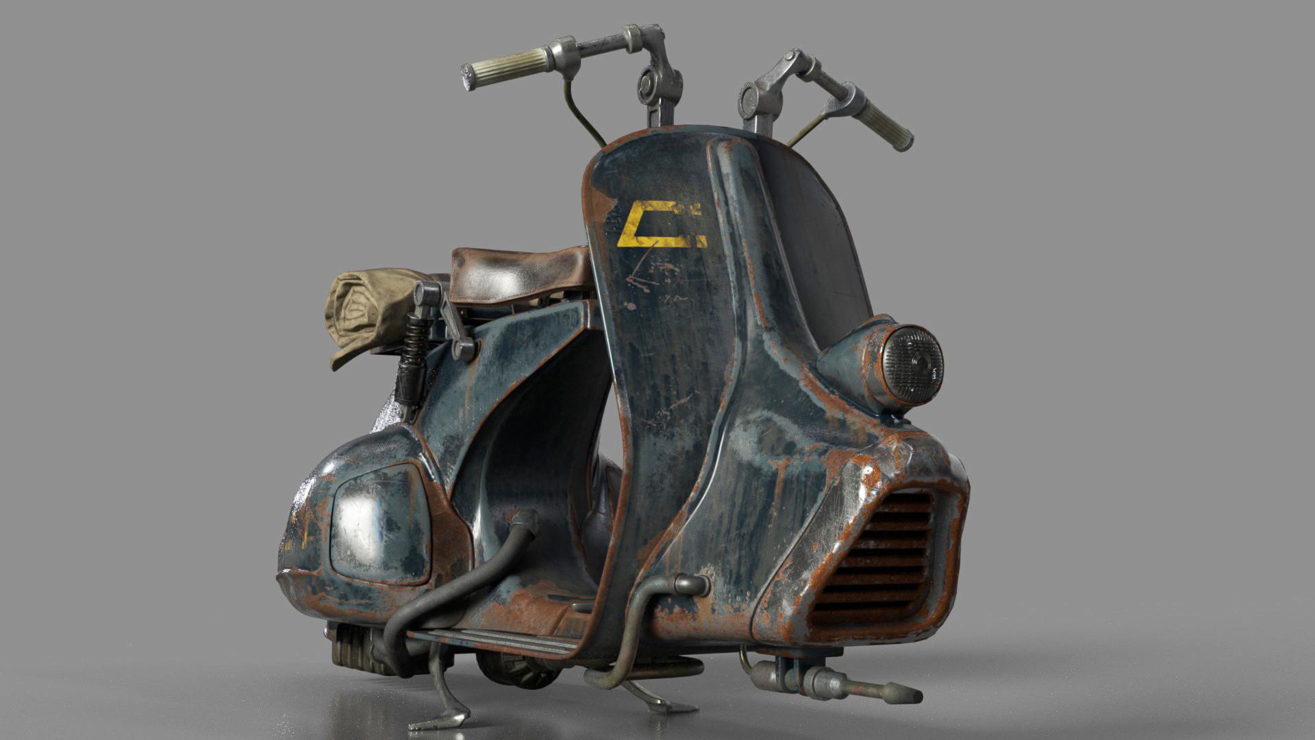 Ricki Martin Vintage Vespa Speeder Bike
