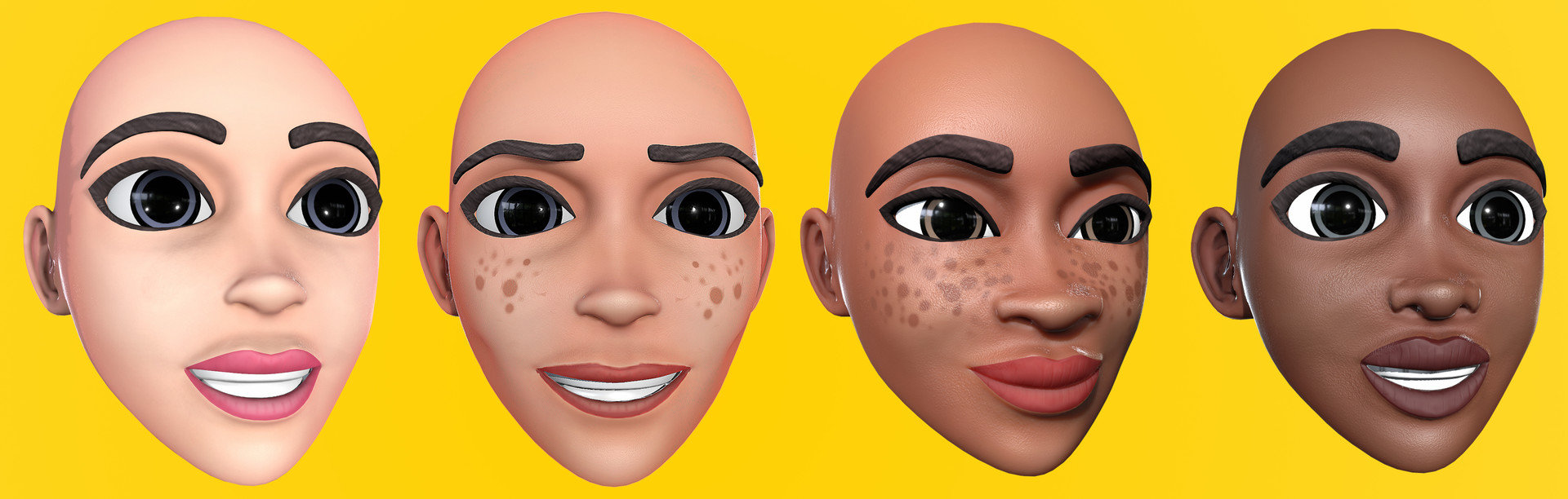 Designed customizable facial features  facial features and changes of different color values in application.