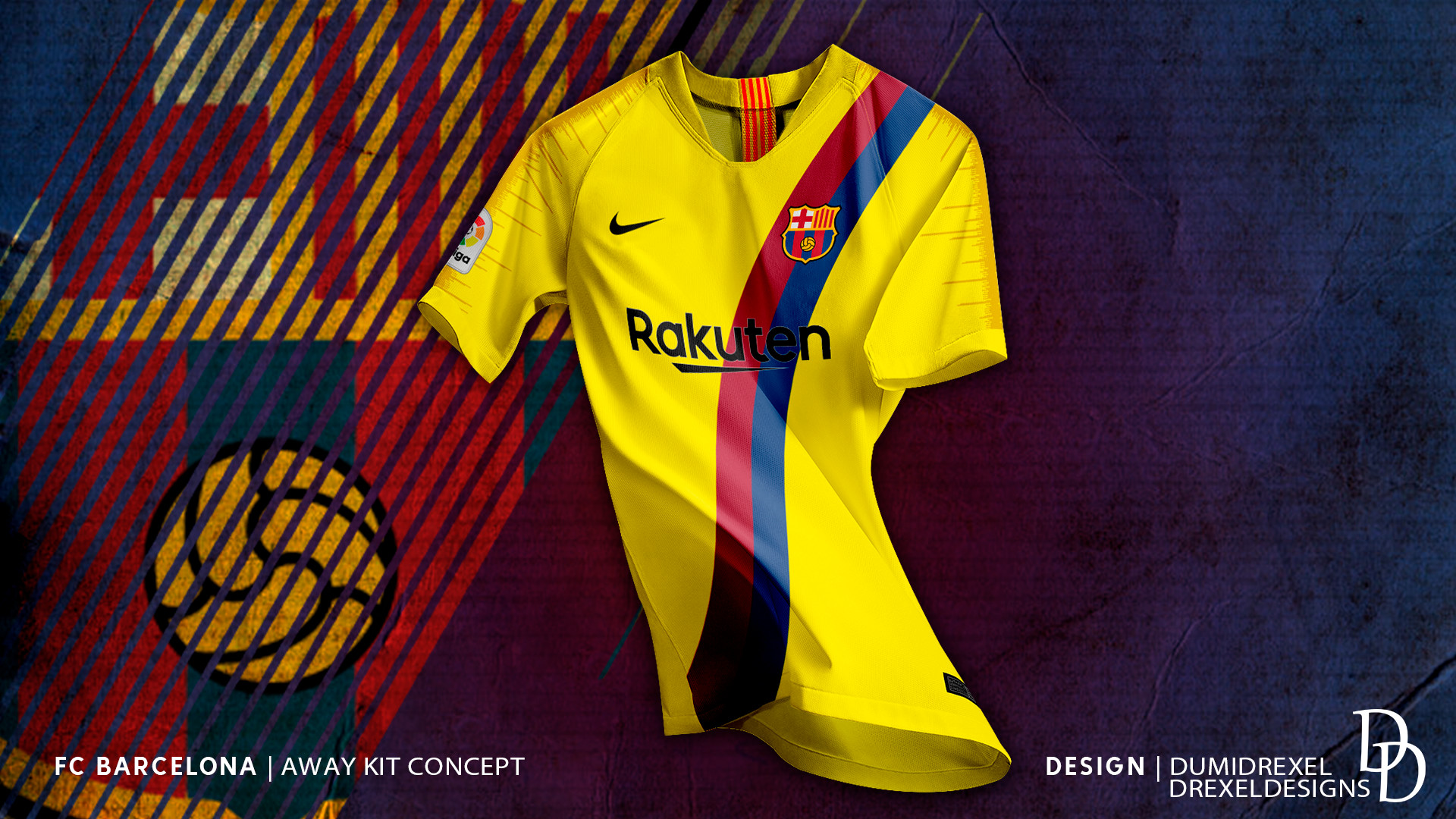 new product bf142 7d3fd ArtStation - FC Barcelona - Away Kit 19/20 Concept, Drexel ...