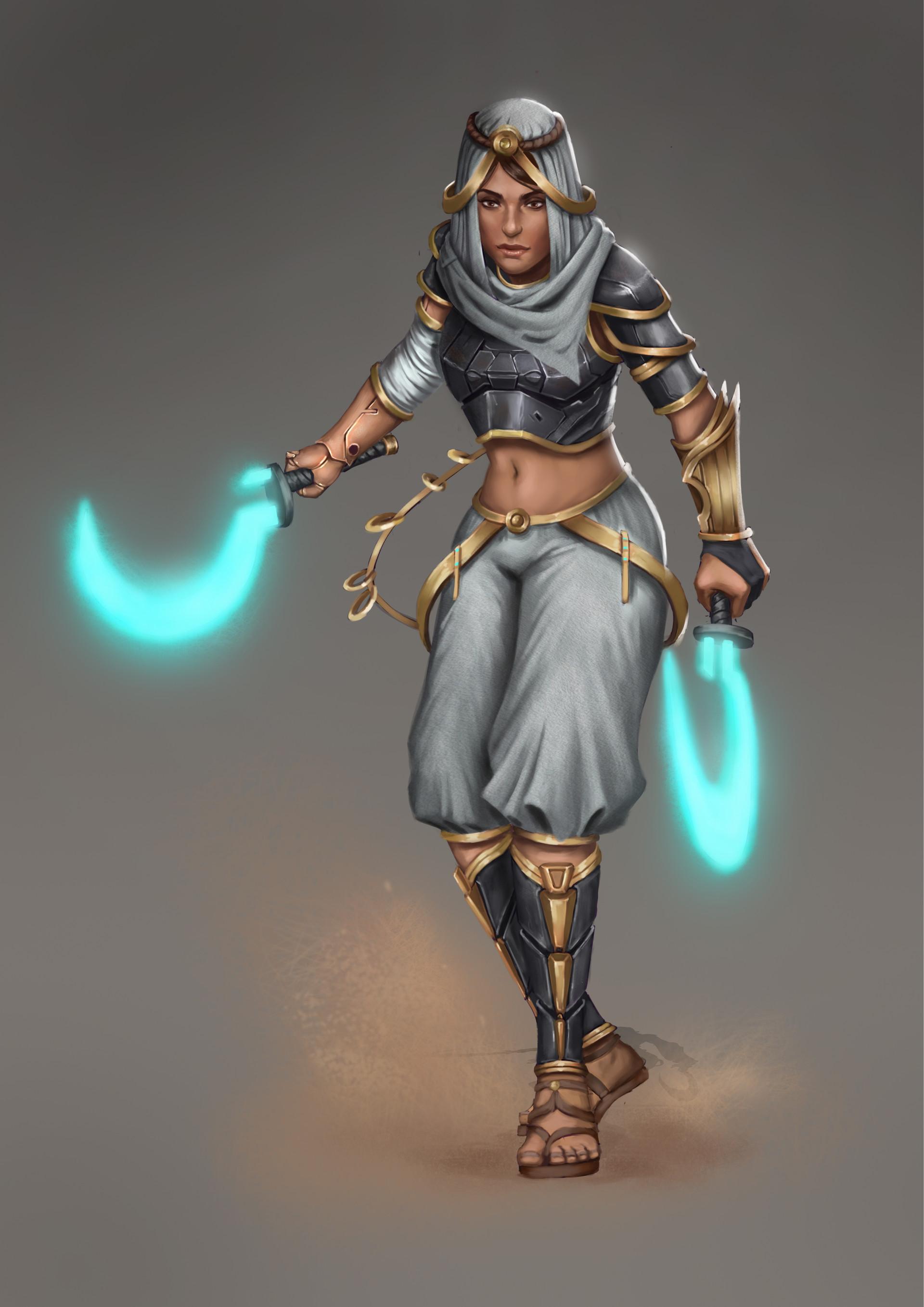 Artstation Female Desert Warrior Concept Design Joe Horne