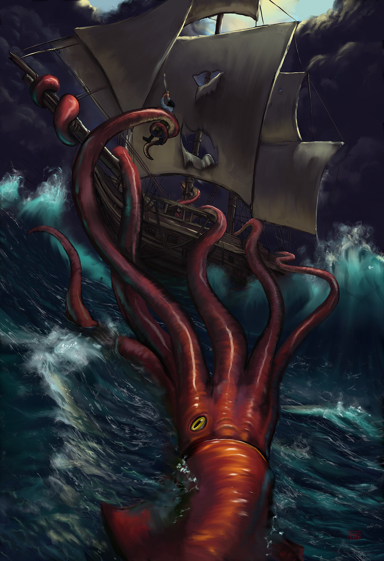 Casey weeks kraken ship web