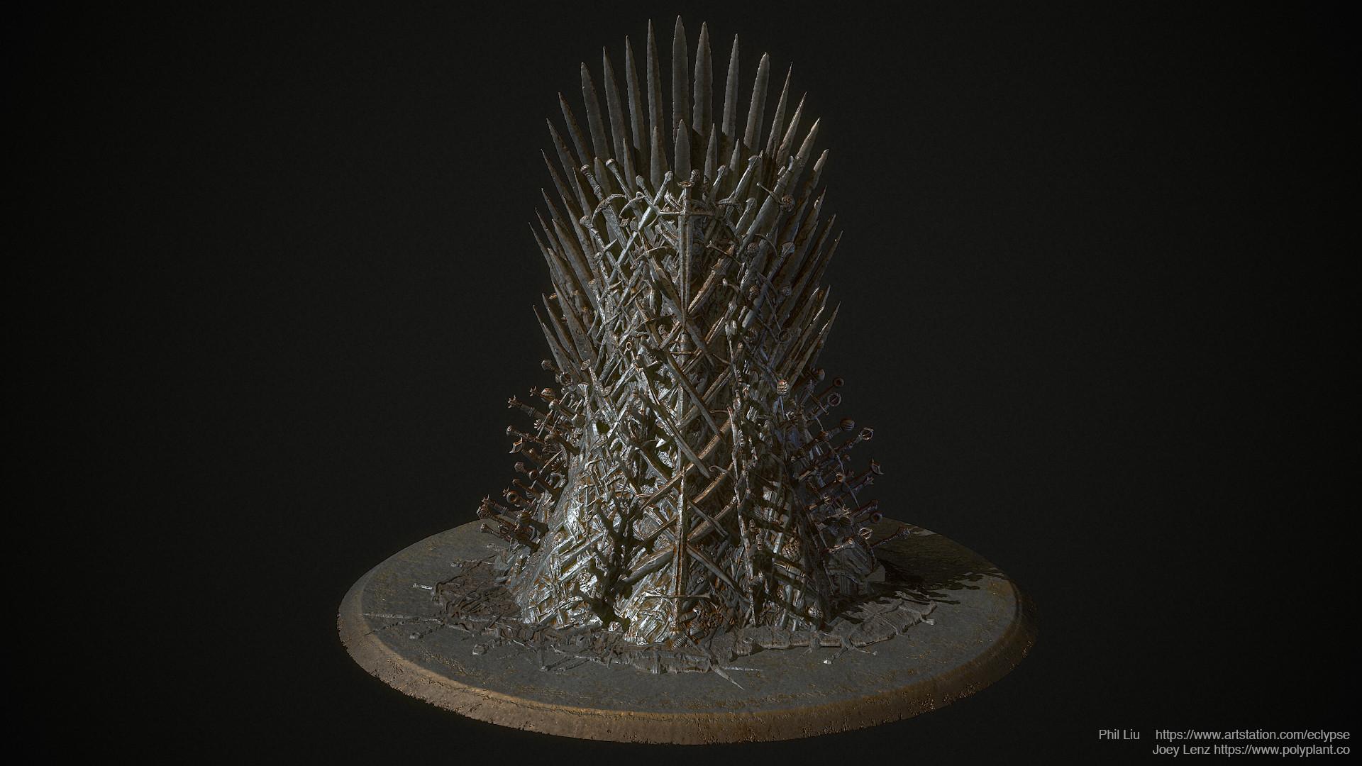 Artstation The Iron Throne Substance Designer Phil Liu
