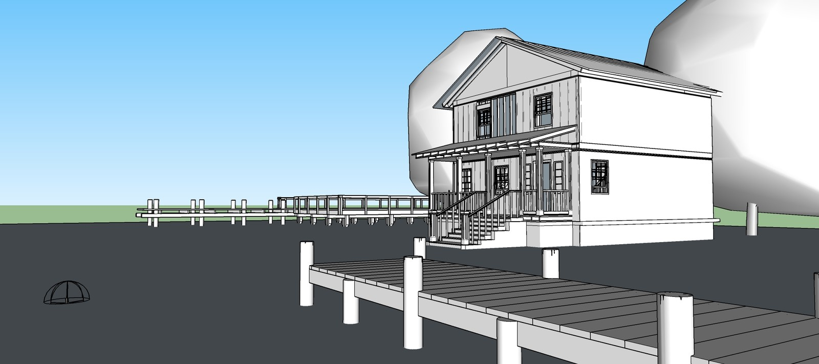 Base render for house exterior