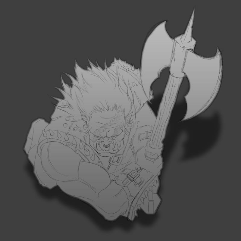 Orc Berserker sketch