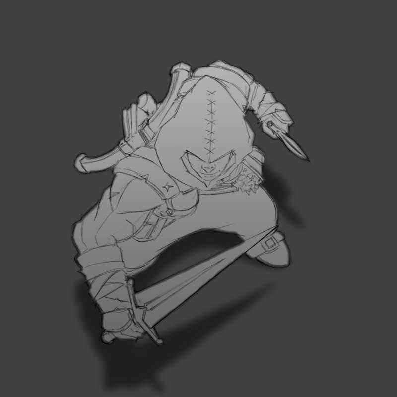 Male Human Rogue sketch