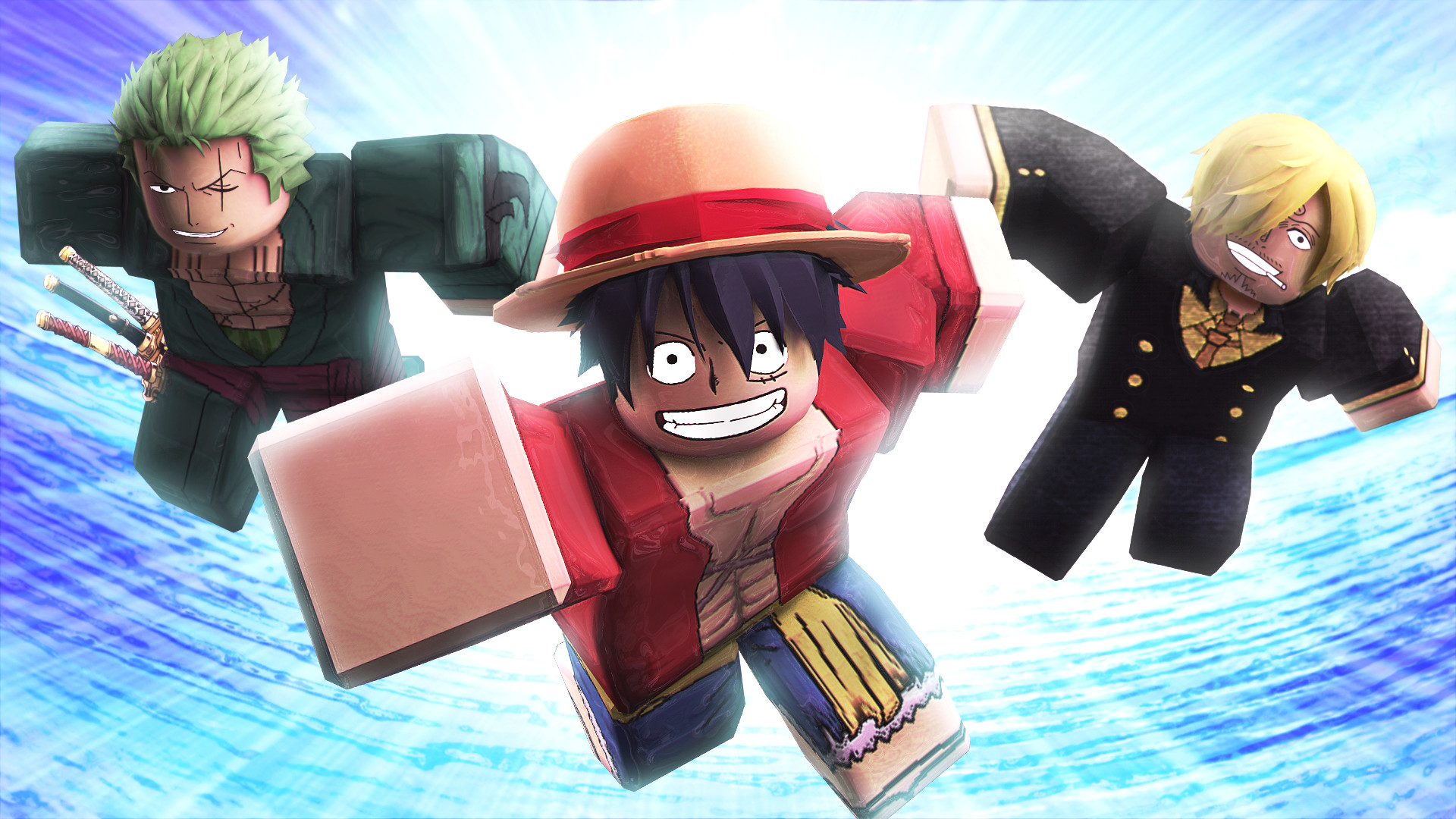 Artstation Roblox One Piece Gfx Luffy Zoro And Sanji Ham Duhham