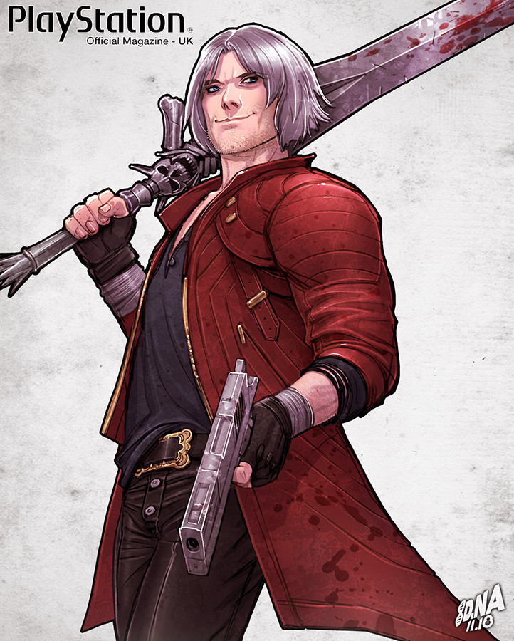 Dante from Devil May Cry detail